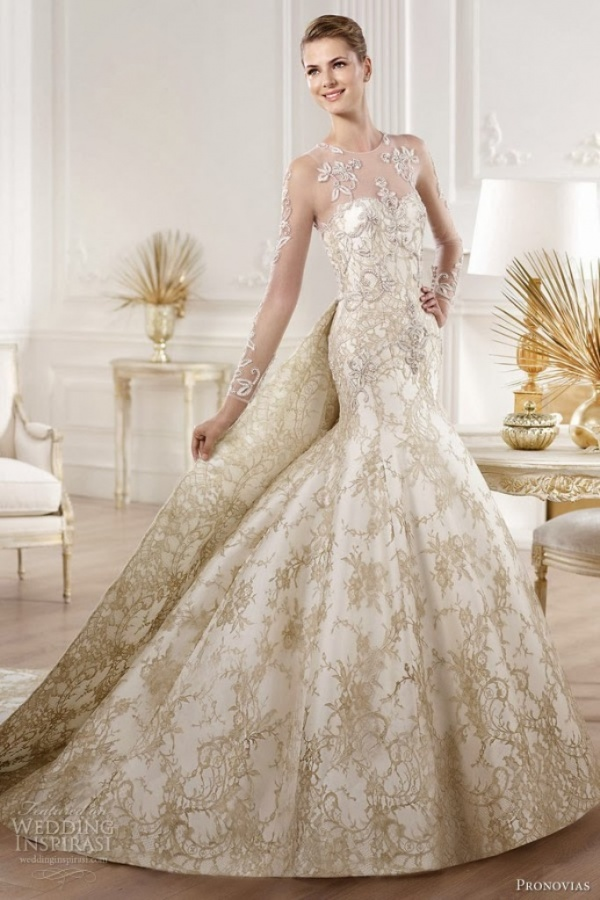 Top 10 Gold Wedding Dresses