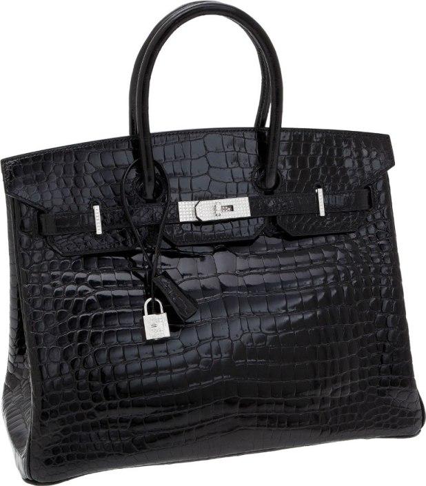 Hermes-Poșeta-neagră-cu-diamante-albe-de-18-carate