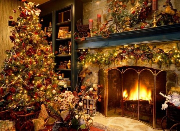 fireplace mantel decoration (1)