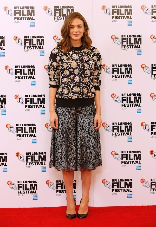 "LONDON, ENGLAND - OCTOBER 07: Actress Carey Mulligan attends the ""Suffragette"" photocall during the BFI London Film Festival at The Lanesborough Hotel on October 7, 2015 in London, England. (Photo by John Phillips/Getty Images for BFI)"
