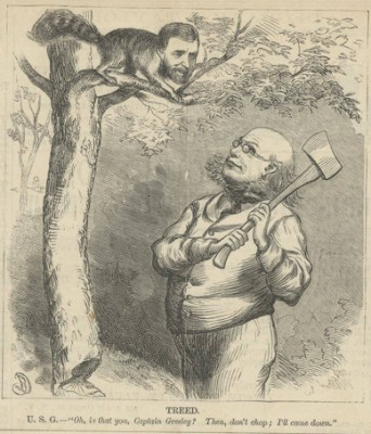 Horace Greeley Ulysses Grant Cartoon