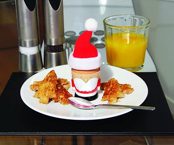 Santa Egg Cup and Toast Cutter Set
