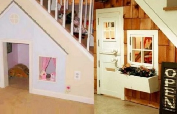Kids Playhouse Under Staircase