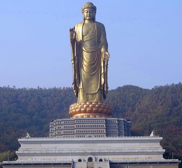 Spring Temple Buddha, China - Height: 128m (420ft)