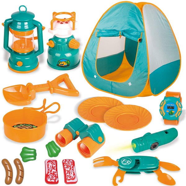 Pop Up Tent with Kids Camping Gear Set