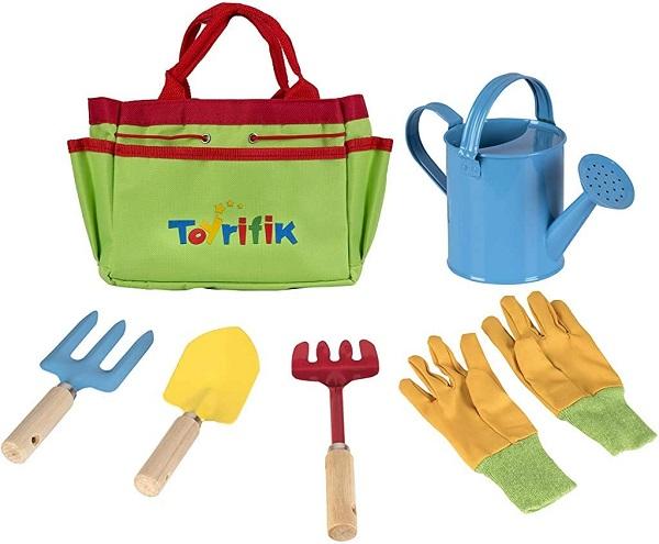 Toyrifik Little Gardener Tool Set with Garden Tools Bag