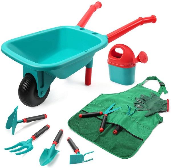 Cute Stone Kids Gardening Tool Set