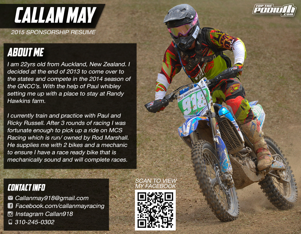 Cover Letter For Motocross Sponsorship