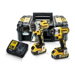 Toptopdeal-Dewalt DCK276P2 18V Brushless Twin Kit With 2 X 5 0Ah Batteries & Charger In Toughsystem Box