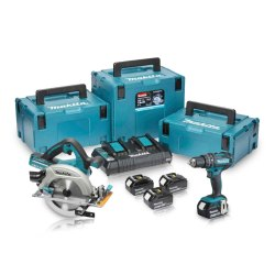 Toptopdeal-Makita-DLX2140PMJ-18V-Combi-&-Circular-Saw-Twin-Pack-4-X-4Ah-Batteries-And-3x-Makpac-Cases