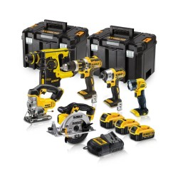 Toptopdeal-co-uk Dewalt DCK699M3T 18V 6 Piece Kit 3 X 4 0Ah Batteries With Charger & 2 X Kit Boxes