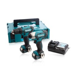 Toptopdeal-co-uk Makita CLX224AJ 12V Max CXT 2 Piece Cordless Kit With 2 X 2 0Ah Batteries & Charger In Case