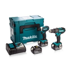 Toptopdeal-co-uk Makita DLX2131MJ1 18v Twin Pack Combi Drill & Impact Driver With 3 X 4 Ah Batteries & Charger