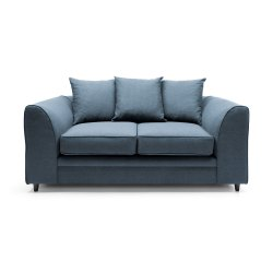 Abakus-Direct-Darcy-Corner-Sofa-Settee-Right-or-Left-in-Teal-Linen-Fabric-(2-Seater)