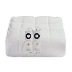 Dreamland Heated Mattress Protector Quilted Cotton Dual Control King