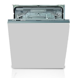 Hotpoint HIO3C26W Fully Integrated Standard Dishwasher - Silver Control Panel with Fixed Door Fixing Kit
