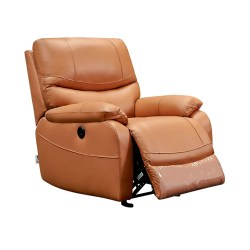 Recliner Chair Padded Seat Massage PU Leather for Living Room Single Sofa Recliner Modern Recliner Seat Club Chair Home Theater Seating