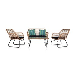 Toptopdeal 4 Piece Wicker Rattan Patio Sets Garden Furniture Sets