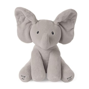Toptopdeal-GUND-Animated-Flappy-the-Elephant-Stuffed-Animal-Plush,-Grey,-12