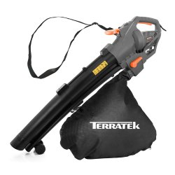 Toptopdeal-Terratek-Leaf-blower-Garden-Vacuum-and-Shredder,-35L-Leaf-Collection-Bag,-3000W-10m-Cable-Lightweight-Design