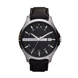 Toptopdeal-uk-Armani-Exchange-Men's-Analog-Quartz-Watch-with-Leather-Strap-AX2101