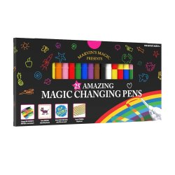 Toptopdeal-Marvin's-Magic---Amazing-Magic-Pens--Colour-Changing-Magic-Pen-Art--Create-3D-Lettering-or-Write-Secret-Messages--Includes-25-Magic-Pens