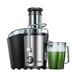 toptopdeal Centrifugal Juicer Machine Whole Fruit Vegetable Extractor 850W Stainless Steel Dual-Speed,Wide Mouth Easy to Clean BPA-Free