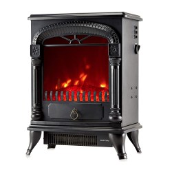 toptopdeal NETTA Electric Fireplace Stove Heater with Log Wood Burner Effect - 2000W with Fire Flame Effect- Arch Design- Freestanding Portable- Wood Burning LED Ligh