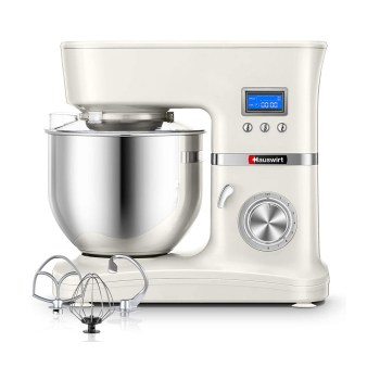 toptopdeal Hauswirt Stand Mixer, Food Mixer with 5L Stainless Steel Mixing Bowl