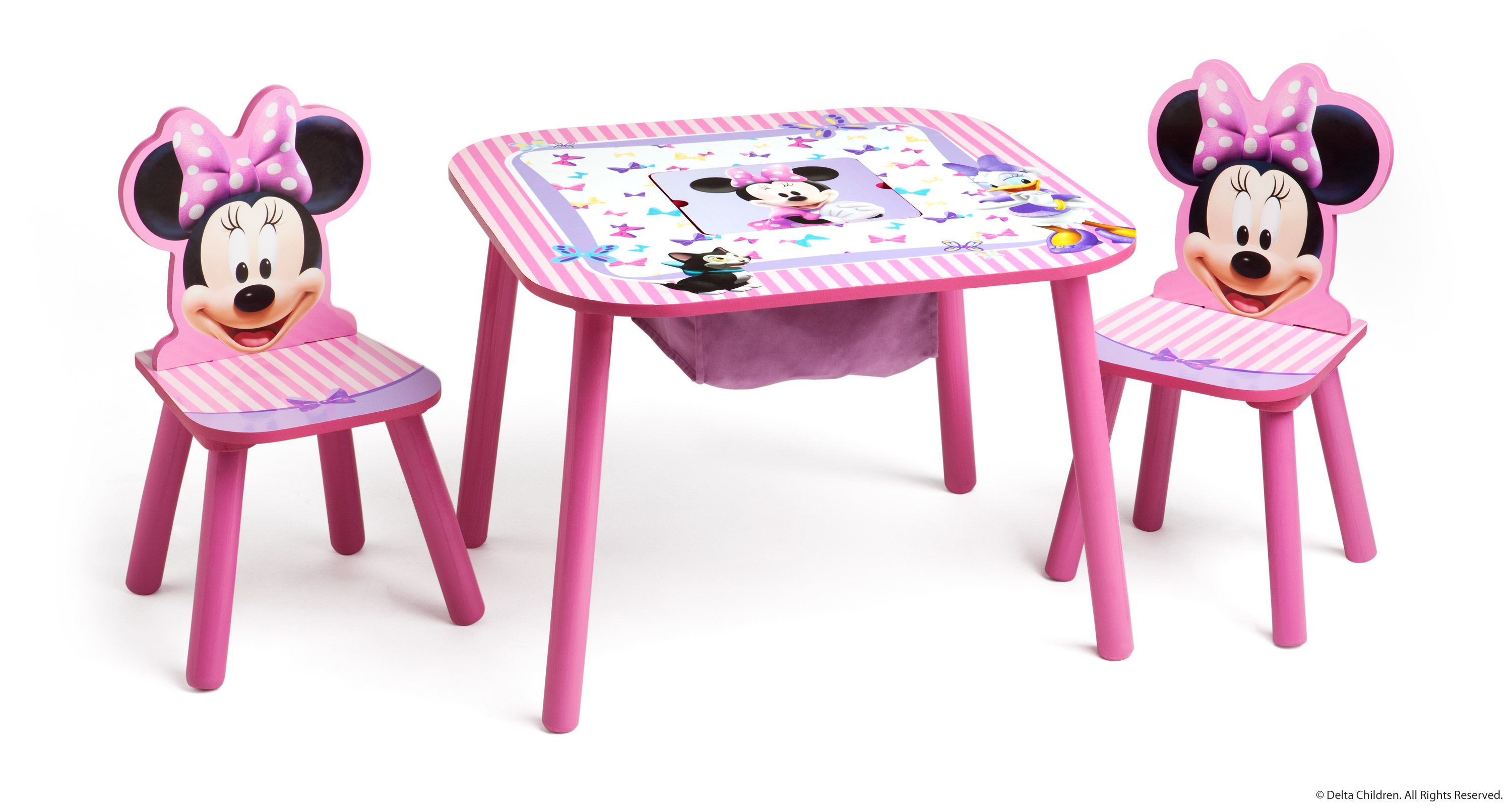 minnie table and chairs chair for bathtub disney mouse storage set what fun