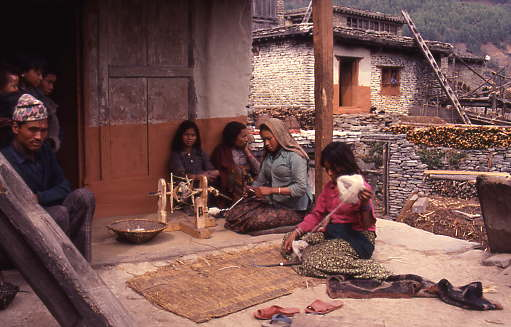 Thakali people of lower Mustang district mixed traditions