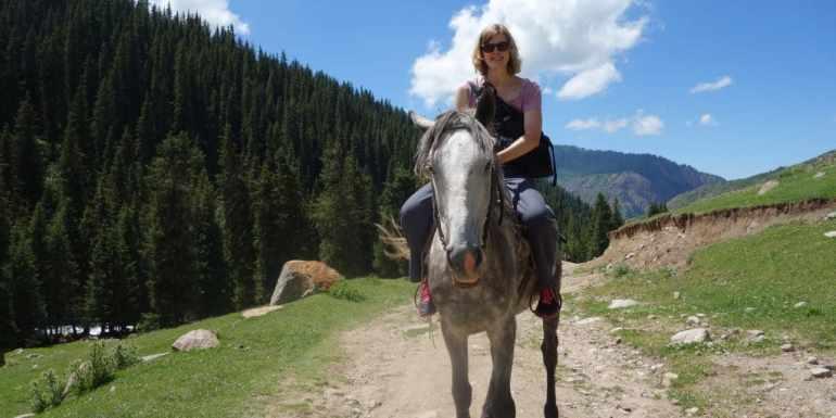 Horse-riding in Kyrgyzstan