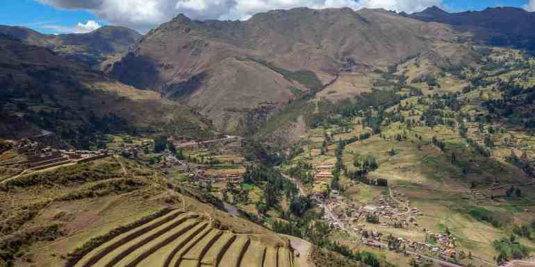 View in the Sacred Valley, Peru