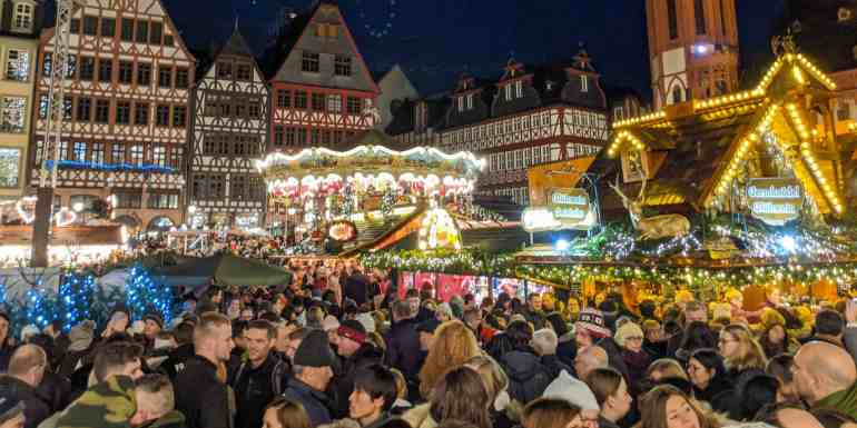 German Christmas market, Frankfurt, Germany