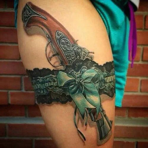 3D Thigh Tattoos For Females