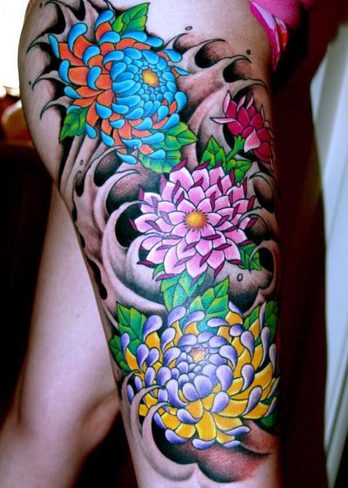 Best Japanese Flower Tattoo