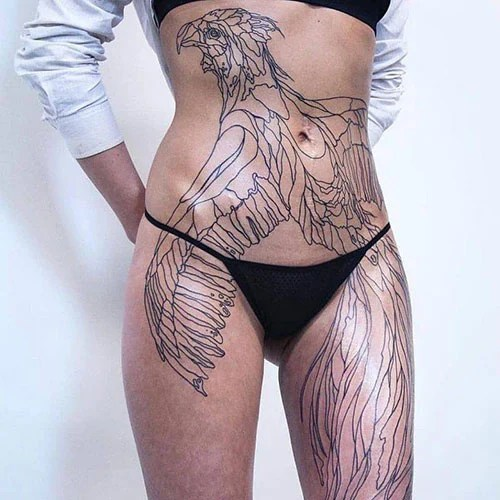 Hip and Thigh Tattoos