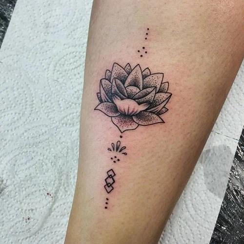 Simple Lotus Flower Tattoo Designs