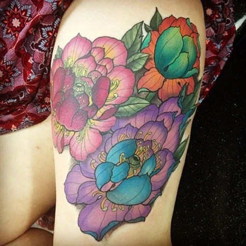Top Thigh Tattoos For Women