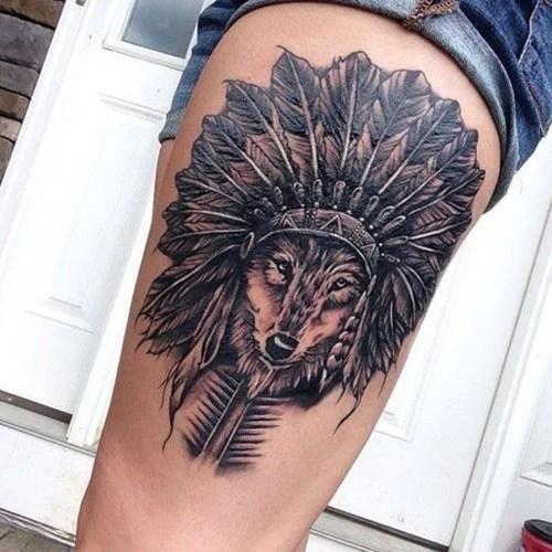 Tribal Thigh Tattoos