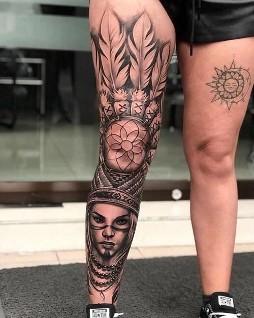 Unique Thigh Tattoos For Girls