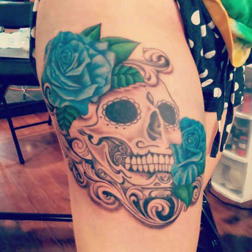 Women's Thigh Tattoo Ideas