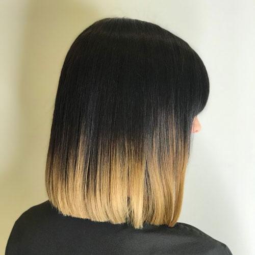 Blunt Cut Shoulder Length Hair