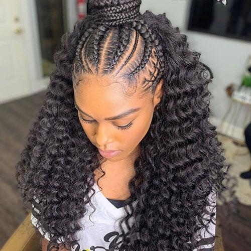Cornrow Braids with Weave