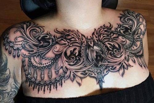 Beautiful Full Chest Tattoos