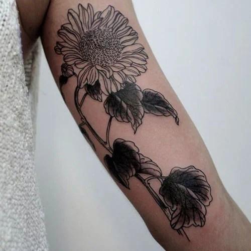 Cute Sunflower Arm Tattoo