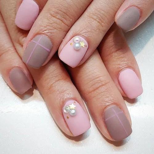 Light Pink Matte Nails