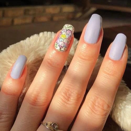 Matte Purple Nails