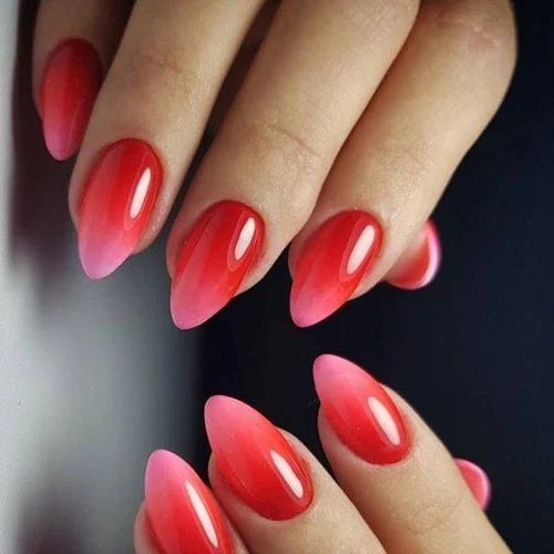 Red Ombre Nail Designs