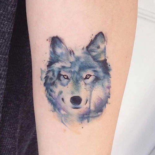 Small Wolf Tattoos